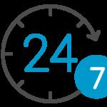 24x7 icon